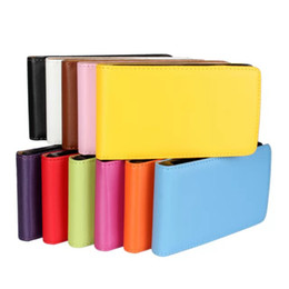 Wholesale Genuine Real Leather Flip Case Colorful Cover Case for LG E612 Optimus L5 free shipping