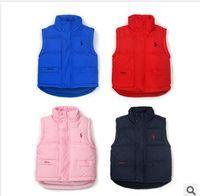 Waistcoat Unisex Winter Retail Brand Child Outerwear, baby waistcoat Winter High quality children cotton vest Kids boys and girls parka vest warm coat