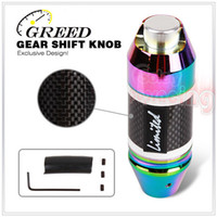 Wholesale NEW ARRIVAL Universal GREED Auto Transmission Carbon Fibre Racing Gear Shift Knob