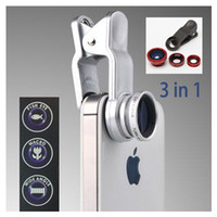 Wholesale LQ Universal in Clip On Degree Fish Eye Lens Wide Angle Macro Lens For iphone S S samsung S3 S4 S5 HTC ipad Tablet PC