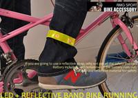 Wholesale reflective Safety Bind Pants Velcro Band Leg belt LED flash red light Bicycle Reflective arm Leg Strap