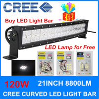 Wholesale 120W inch Curve Cree Led Work light Spot Flood Combo beam off road led cree led light bar for Truck Jepp Offroad Boat X4 Free LED lamp