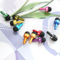 Wholesale 3 mm Mini diamond Anti Dust Plug Capacitive Touch Screen Stylus Pen Earphone Ear Cap Dustproof Stopper For ipad iphone Phone Tablet PC
