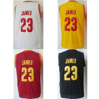 Wholesale Cavaliers James Basketball Jerseys Gold White Red Black Jerseys for Men Hot Sale Revolution High Quality Basketball Wears Kits