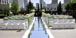 Wholesale 20m Romanic m wide Shine Mirror Carpet Silver Double sided stage Wedding Favors Party Decoration wdc001s