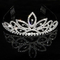 Headbands Silk Flower  Wedding Bridal crystal veil tiara crown headband 891