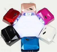 nail color machine - 6 Color W W UV LED Gel Nail Lamp Gel Curing Tube Light Nail Art Polish Dryer Machine V V EMS free