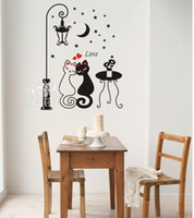 Wholesale Love Cats pattern swap space plane wall stickers wall under the lights multipurpose furniture
