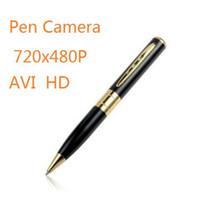 None   HD Spy Pen Camera Mini Wireless Spy Cam Motion detector Pinhole Video DVR 720x480 AVI Hidden Gold Support SD TF Card