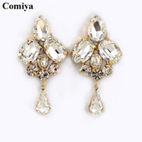 ally - New brand fashion crystal gold plated dangle earrings for women big earring cc brincos grandes allied express bijoux bijouterie
