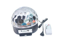 Wholesale EU Color W RGB MP3 LED projector Crystal Stage Light Magic Ball DJ dace party disco effect Light Bulb Lamp