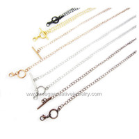 Wholesale Stainless steel OT toggle chain Fashion mm necklace for floating charm living locket
