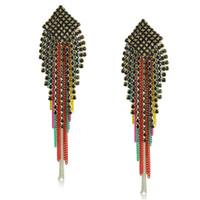 Wholesale Neon Chandelier Tassel Earrings Top Fashion Earring Wholesaler Yumfeel E1380