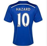 Wholesale 2014 Chelsea HAZARD Home Soccer Wears Hot Sale Soccer Jerseys Football Club Sports Uniform New Brand Quality thailand Apparel