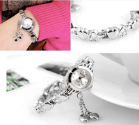 batteries love heart - Full Steel Watch Shiny Love Heart Pendant For Women Dress Watches Quartz KIMIO Brand Ladies Casual watches New