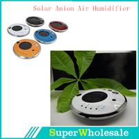 Wholesale Solar Power Air Purifier Ionizer Anion Diffuser Car V Home oxygen Humidifier