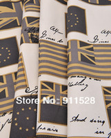 Wholesale UK Flag Printed Cotton Canvas Fabric for Curtain Cushion Covers Sofa Bags Yard N1121