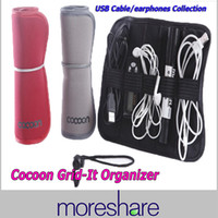 Wholesale Cocoon Grid It Organizer System Kit Case Roll storage Bag for Digital Gadget Devices USB cable Earphone Pen Travel Bag Insert Storage Boxes