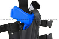 Yes holster  Wholesale-OP-Safariland Tactical DropLeg Holster for Glock Airsoft with flashlight bd2289 free shipping