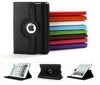 9.7'' For Apple PU For Ipad mini 1 Mini 2 Retina Ipad 2 3 4 Air 5 360 degree Rotating PU leather stand Smart case back cover Magnetic tablet pc case by dhl