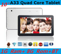 Wholesale 2014 Latest NEW EPAD GHZ HD GB GB Quad Core Allwinner A33 Android dual camera inch quot tablet pc Bluetooth USB Host OTG