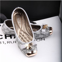 Slip-On flat shoes - European Casual flat with square fashion printing metal bow flat shoes comfortable Women Flats plus size