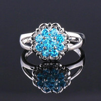 silver ring for women - New fashion Topaz zirconia diamond ring sterling silver jewelry wedding silver Rings for women BT0033