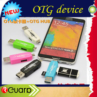 micro sd card U disk USB 2.0 USB 2.0 OTG card read + HUB OTG smart card reader + 2.0 HUB card reader connection kit for smartphone and computer