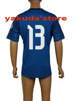 Thailand Quality 2014 - 15 Home Goalkeeper Dark Blue Soccer J...