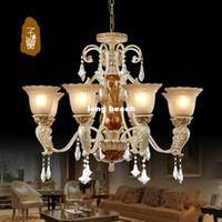 Wholesale Q vanilla European chandelier lamp living room lamp restaurant retro penthouse floor living room chandelier lamp American li