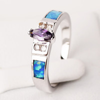 Band Rings Women's Party Opal New fashion Topaz zirconia diamond ring sterling silver jewelry wedding 925 silver Rings for women BT0166