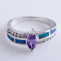 Band Rings Women's Party Opal New fashion Topaz zirconia diamond ring sterling silver jewelry wedding 925 silver Rings for women #BT0139