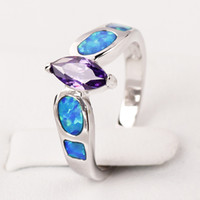 Band Rings Women's Party Opal New fashion Topaz zirconia diamond ring sterling silver jewelry wedding 925 silver Rings for women #BT0171