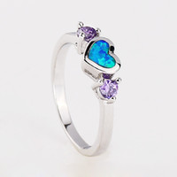 Band Rings Women's Party Opal New fashion Topaz zirconia diamond ring sterling silver jewelry wedding 925 silver Rings for women#BT0167