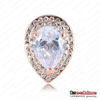 Wholesale New Arrival Western Ring Elegant Exaggerated Ring K Rose Gold Plate Austrian Crystal SWA Elements Rings mm Ri HQ0233 g