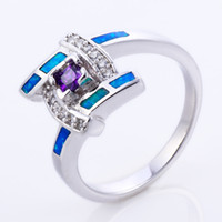Band Rings Women's Party Opal New fashion Topaz zirconia diamond ring sterling silver jewelry wedding 925 silver Rings for womenBT0201