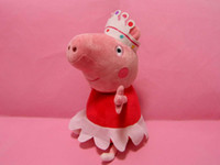 "Unisex 0-12 Months Video Games Wholesale-OP-30cm Large Peppa pig 12"" hot sale 12 inch plush toy toddler Ballerina Peppa or George Pirate Pig Dolls For kids Free shipping"