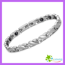 2014 New Famous Brand Women Health Care Magnetic Bracelet Energy Band Balance Hologram Bangles Titanium Steel Jewerlry