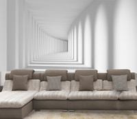 Wholesale 3D stereo self adhesive wallpaper mural wall painting gallery walk sofa living room bedroom TV backdrop