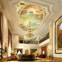 Wholesale Personalized d tv background wall large sofa wallpaper ceiling fashion oil painting