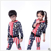Cheap Unisex Boys sports suit Best Spring / Autumn Long clothing set