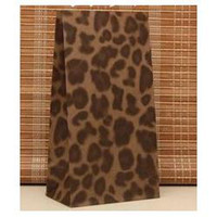 Paper Self Adhesive Seal Kraft Paper Size 23*12*7.5cm Gift Paper Bags Recyclable Without Handle leopard print Printed Shopping Bags Wholesale Free Shipping