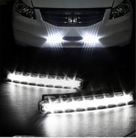 Wholesale 2pcs LED Universal Car Light DRL Daytime Running Head Lamp Super White