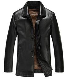 Free shipping Hot New Brand Men leather clothing Men's genuine leather clothing leather jacket male sheepskin turn-down collar coat