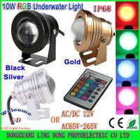 Wholesale 10W LED Underwater light DC12V or V Warm Cool White RGB LED spotlights Waterproof IP68 flood light Fog lights Headlight Min