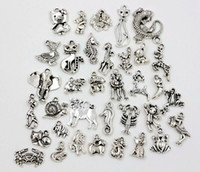 Wholesale Hot or Antique Silver Variety of animals Charm Pendant Fit Charm Bracelet ab6
