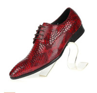 Wholesale 2014 new trend of the snakeskin grain leather men s shoes Business is nib man leather shoes