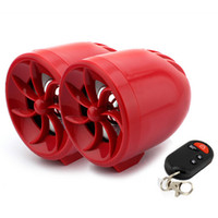 Wholesale Waterproof motorcycle alarm electric cycle MP3 player FM radio support USB slot TF slot and AUX IN slot red shell