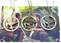 Wholesale The Hunger Games Necklaces Inspired Mockingjay And Arrow Pendant Necklace Authentic Prop imitation Jewelry Katniss Movie The Hunger Games