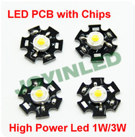 Wholesale 10pcs W W High Power LED light bead emitter Red Green Blue Yellow neutral Warm White Cool White Colors led chip beads with PCB